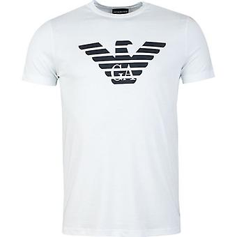 Emporio Armani Zentrum Adler Rundhals T-shirt