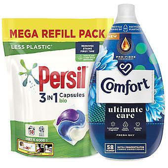 Laundry Bundle 1x50W Persil Bio Capsules & 1x58W Comfort Fabric Conditioner