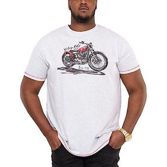 Duke D555 Mens Miles Big Tall King Size Vintage Rides T-Shirt  Top - Off White