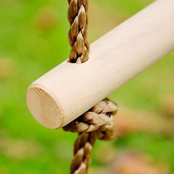 Sisä- ja ulkoleikkimökki asetettu puinen 5 rungs köysi kiivetä tikkaat lelu