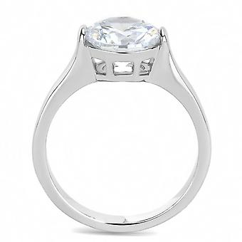 Women Stainless Steel Cubic Zirconia Rings Tk3432