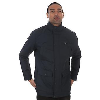 Men's Farah Shrewsbury 4 Pocket Jacket in Blue