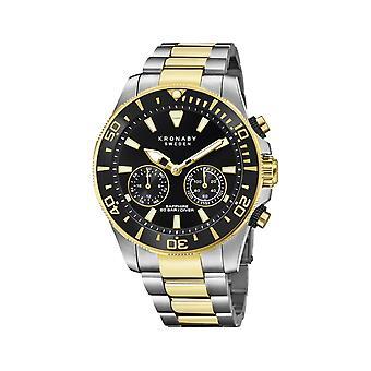 Kronaby S3779-2 Men's Hybrid Smartwatch Two Tone Steel Bracelet