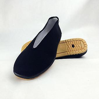 Μαύρα πολεμικά παπούτσια Kung Fu τέχνης, λαστιχένια παπούτσια αθλητικών παπουτσιών Tai Chi