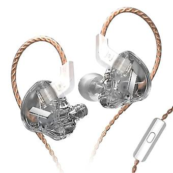 KZ EDX 1DD Earbuds with Microphone and Music Management - 3.5mm AUX Earpieces Wired Earphones Earphone Transparent