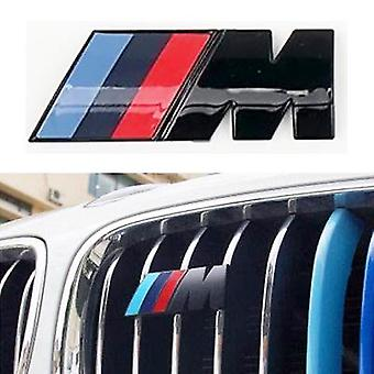Gloss Black BMW M Front Grille Emblem Badge Grill Sticker M Power Car M3 M2 M4 M5 X1 X3 X5 X6 E60 E90 E92