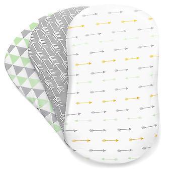 Baby-Matratze, weiche Bassinet Set, Wiege ausgestattet Blätter für Matratzen Pads
