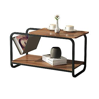 Side table 2 floors with newspaper box - 86,5x40x46 cm - Loft style