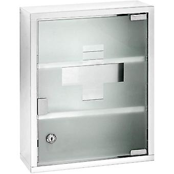 Chest-Medicine Cabinet, Lockable, Stainless steel, Silver Shiny, 12 x 30 x 40 cm