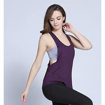 SPORX Women's Quick Dry Yoga Tanks Tops Sleeveless Lilac