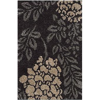 Gerui Felix Shag Rug, Woven Polypropylene Carpet in Dark Brown / Grey, 68 X 121 cm