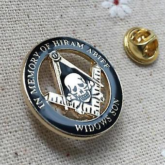 In memory of hiram abiff widows son lapel pin