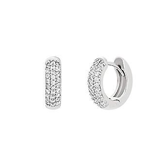 NOELANI Women's hoop earrings, sterling 925 silver, with zircons(2)