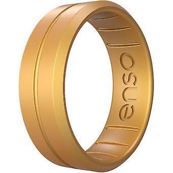 Enso Ringar Classic Contour Elements Serie Silikonring - Guld