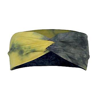 2Pcs tie dye headband esportes correndo yoga suor absorvendo banda de cabelo