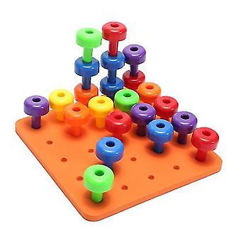 Малый ногтей Строительный блок игрушка Creative Шахматы Строительный блок