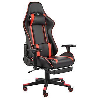 vidaXL gaming stoel met voetsteun draaibaar rood PVC