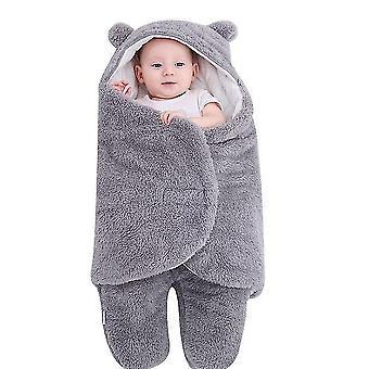 3M gray cute bear organic newborn swaddle wrap x3704