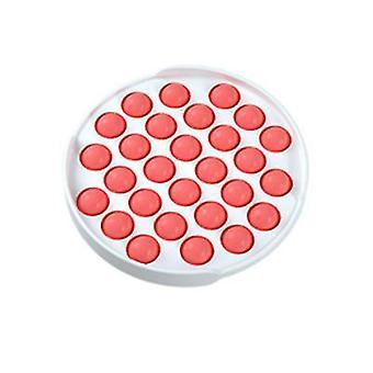 2Pcs الجولة الحمراء دفع البوب فقاعة لعبة تململ الحسية، وتخفيف التوتر والأدوات المضادة للقلق للأطفال والبالغين az7712