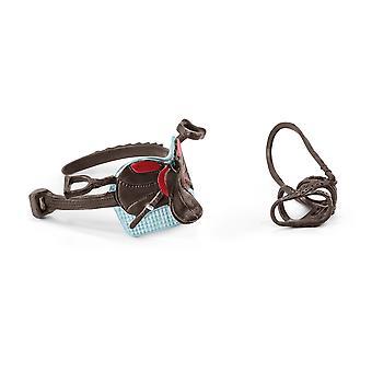 SCHLEICH Horse Club Saddle & Bridle för Hannah & Cayenne Toy Figure Accessory Set