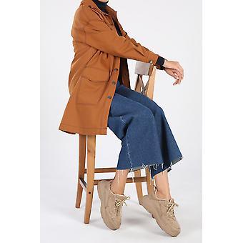 100% Cotton Pockets Detailed Long Jacket