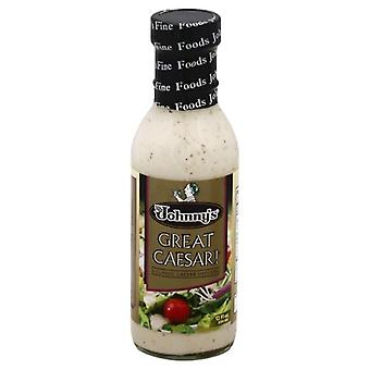 Johnnys Fine Foods Drssng Great Caesar, Case of 6 X 12 Oz
