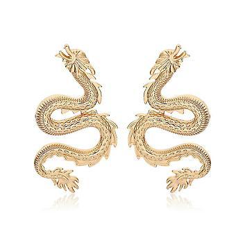 Boucles d'oreilles Geometric Dragon Heart Zircon Micro Incrusté snake alliage pour une utilisation quotidienne