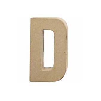 20,5 cm grote papier mache letter D | Papier Mache-vormen