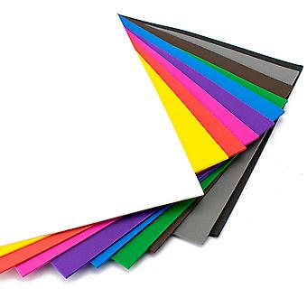 10 Assorted Sheets of A4 Craft Foam - 2mm Thick