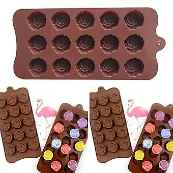 Silicone Flower Rose Mould Cake Decorating Chocolate Baking Mold Candy Wax Melts