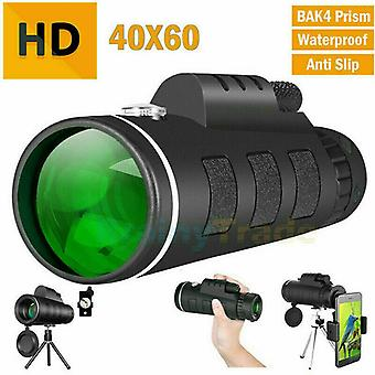 40X60 Zoom Optical HD Lens Monocular Telescope Starscope Hunting Camping Outdoor