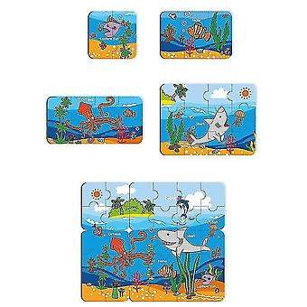 Puzzles For Kids Age Colorful Wooden Puzzles For Toddler Children Learning Educational(GROUP2)