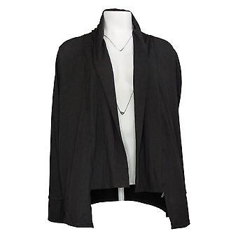 Cuddl Duds Women's Sweater Long Sleeve Wrap Black A373509