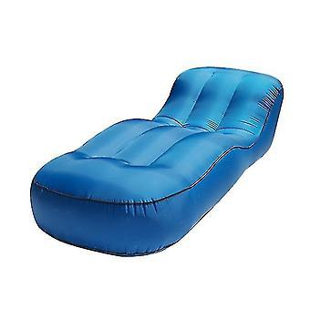Oppustelige Lounger Air Sofa Hængekøje-bærbare, vand Proof & Anti-air utæt design(blå)