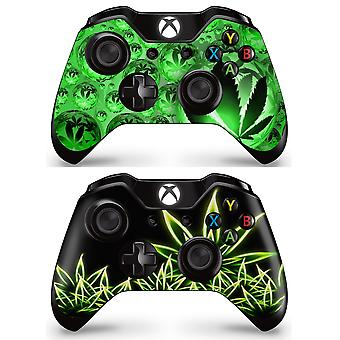 GNG 2 x Weed Controller Skins compatibile con Xbox One Full Wrap Vinyl Sticker