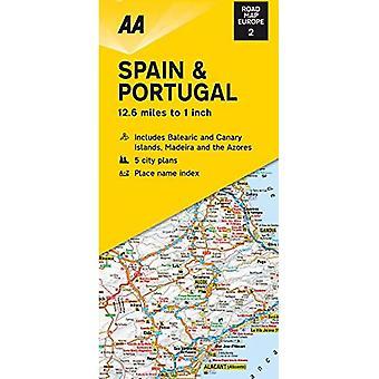 Road Map Spain & Portugal (Road Map Europe)