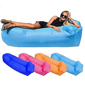 Inflatable Lounger Air Sofa Foldable Sleeping Bag Outdoor Beach Chair Couch For Camping