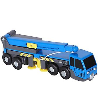 Boom Lifting Toy Truck Compatible With Wooden Train Track Children Gift Diecasts & Toy Vehicles