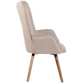 Sessel - Sessel - Modernes beigefarbenes Holz 69 cm x 73 cm x 108 cm