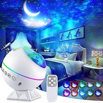Galaxy-projektori, 3 in 1 yövalo projektori kauko-ohjaimella