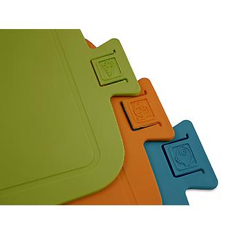 Wellos set of 3 Eco Friendly Antibacterial Chopping Boards, 38cm x 25cm
