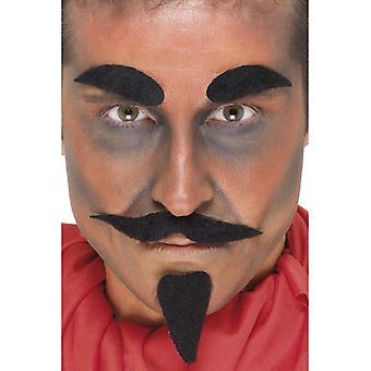 Diavolul lui barbă diavolul costum barba set 4-Piece diavolului ' s ascuțit barbă