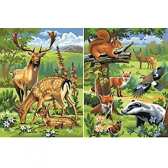 Sequin Art Woodland Animals Twin Pack Junior Paint By Number