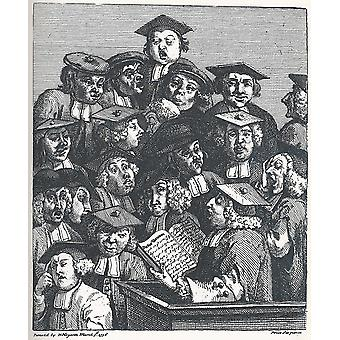 William Hogarth - Studenten bei der Vorlesung Poster Print Giclee
