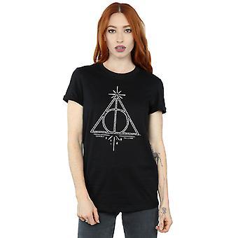 Harry Potter Women's Deathly Hallows Symbol Boyfriend Fit T-Shirt