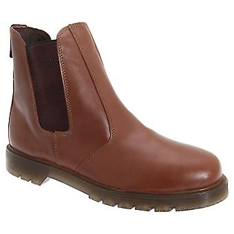 Grafters Mens Pull On Leather Twin Gusset Dealer Boots