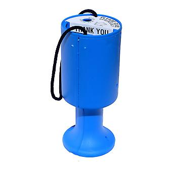 Round Charity Money Collection Box - Light Blue