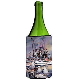 Sea Gulls and shrimp boats Wine Bottle Beverage Insulator Hugger
