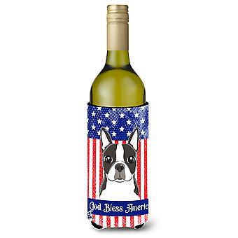 Boston Terrier Wine Bottle beverage Insulator Hugger