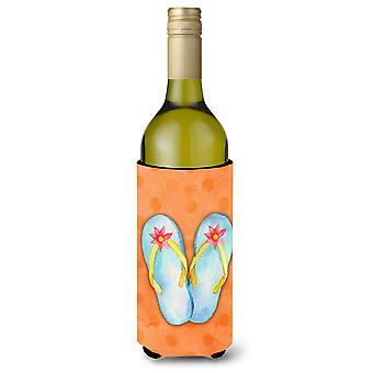 Botella de vino de pez naranja Beverge aislador Hugger ojotas